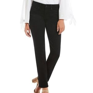 NYDJ Black Marilyn Straight Leg Jeans